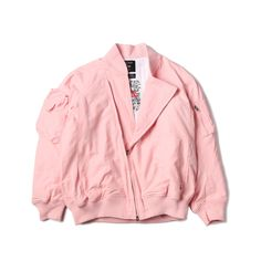 """@C2H4_LA """"Basic MA-1 Jacket"""" in Pink 