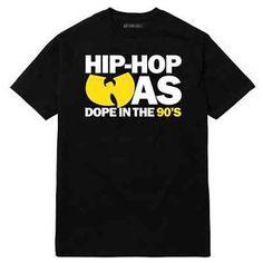 Hip Hop Was Dope 90's Wu Tang Clan T Shirt Classic Rap Supreme RZA ...