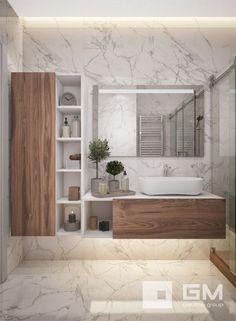 20 moderne Badezimmer mit Wandtoiletten ~ Home Decor Journal, Ikea Bathroom, Bathroom Toilets, Laundry In Bathroom, Bathroom Furniture, Small Bathroom, Master Bathroom, Modern Bathrooms, Bathrooms Decor, Bathroom Cabinets
