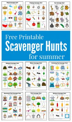 Hunts {Free Printables} These summer themed scavenger hunts will keep your kids busy and entertained this summer.These summer themed scavenger hunts will keep your kids busy and entertained this summer. Summer Scavenger Hunts, Nature Scavenger Hunts, Scavenger Hunt For Kids, Kindergarten Scavenger Hunt, Outdoor Scavenger Hunts, Summer Activities For Kids, Summer Kids, Preschool Activities, Crafts For Kids