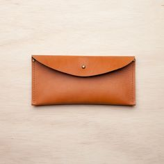 Stitch & Hammer Goods = win. And it's made in the US of A.  Image of Stud Wallet / Tan