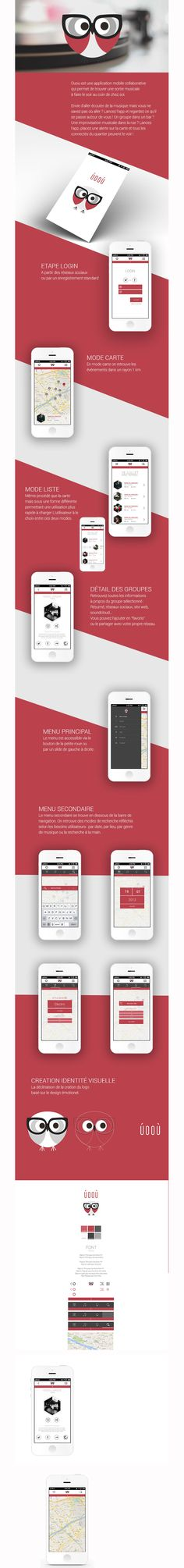 Mobile app design - nice colours and i love the owl logo. #mobile #webdesign #layout #design