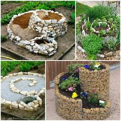 Curly rock planters.
