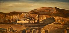 Athens Landscape painting by Yiannis Moralis