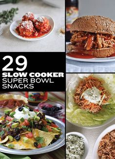 29 Awesome Super Bowl Snacks You Can Make In A Slow Cooker/Crockpot, Southern BBQ pulled pork sandwiches with coleslaw, Tex Mex chili nachos and more...