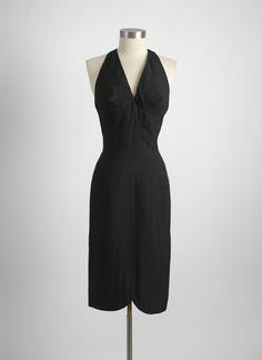 950s 1960s Grenelle Estévez raw silk cocktail dress