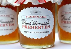 Loralee Lewis Peach Pineapple preserves custom jam labels
