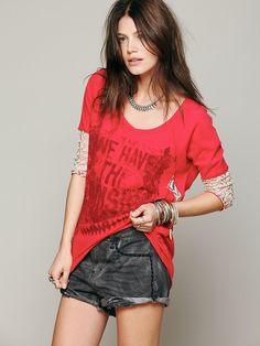 Free People We The Free Lacey Baseball Tee