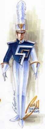 South Point Marching Band uniform design