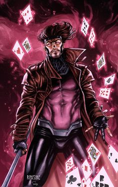 Gambit, Sam DelaTorre on ArtStation at https://www.artstation.com/artwork/gqg38