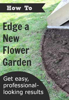 Learn how easy it is to get those crisp, expertly-done flower gardens. Love this!