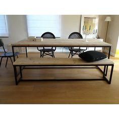 PURE Wood Design industriële tafel steigerhout met stalen frame