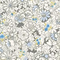 London Calling - Floral (Periwinkle) : Crimson Tate :: Modern Quilter