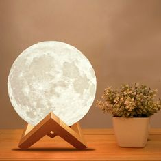 3D Moon Lamp USB LED Night Light Moonlight Gift Touch Sensor Color Changing CG #Unbranded