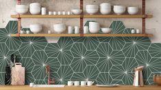 Kitchen Interior, New Kitchen, Kitchen Decor, Kitchen Design, Kitchens Of Distinction, Patterned Kitchen Tiles, Cute Room Decor, Flat Ideas, Scandinavian Interior
