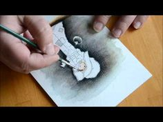 Colouring with Distress Inks - Darker colouring - YouTube