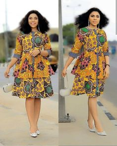20 New African Print Dresses : Super Cute Styles for Fashion Divas. Hello ladies, Hope you are set for this new African print dresses . Check out the top amazing short gowns, long gowns that are trending this Ankara Short Gown Dresses, Ankara Short Gown Styles, Trendy Ankara Styles, Ankara Dress, Short Gowns, African Print Jumpsuit, African Print Dresses, African Print Fashion, African Dress