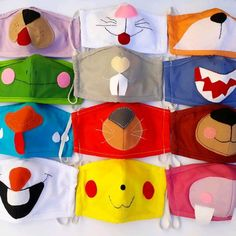 Diy Mask, Diy Face Mask, Sewing Crafts, Sewing Projects, Animal Face Mask, Face Masks For Kids, Stitch Book, Paper Crafts Origami, Felt Toys