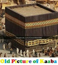 Subahanallah. .. an old picture of the kabah # Mecca