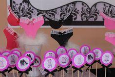 decoração chá de lingerie