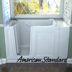American Standard Walk-In Bathtub. Compare American Standard Walk-In Bathtubs prices at top bathtub retailers. The smarter way to shop for American Standard walk-in tubs. Walk In Tubs, Walk In Bathtub, Bathtub Drain, Whirlpool Bathtub, Bathtubs For Sale, Condo, American Standard, Bath Remodel, Home