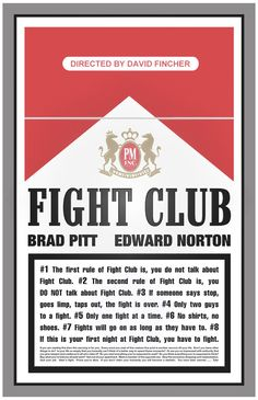 """Fight Club"" (1999) starring Brad Pitt & Edward Norton"