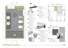 Home Decoration In Pakistan Interior Design Portfolios, Interior Design Boards, Interior Design Inspiration, Interior Design Presentation, Presentation Layout, Bathroom Design Layout, Bathroom Tile Designs, Bathroom Drawing, Bathroom Decor Pictures