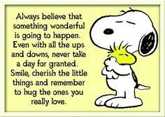 Snoopy & Woodstock Hug - Love this ♥A #Snoopy #peanuts #woodstock #charliebrown