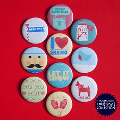 Why give a card when you can give a Christmas Button? Loving these from teaandceremony.bigcartel.com