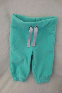 NEW Carter/'s Girls 2 Pack Coral Pink /& Mint Green Girl Pants NWT  12m 18m Pant