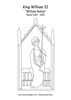 william ii colouring page