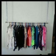 diy clothes rack | DIY hanging clothes rack! | Things i like