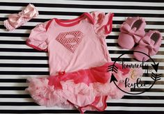 Baby Girl Costumes Baby Girl Superhero Pink by kennedyandkylie