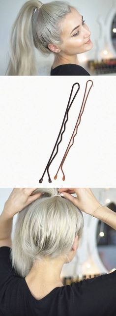 Bobby Pins Lift Ponytails | 18 DIY Hair Hacks Every Girl Should Know to make you look like a million dollars!