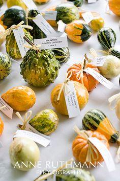 Gourd placecards by Anne Ruthmann, via Flickr