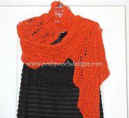 Lace Pumpkin Wrap - Shawl for Fall by Sara Sach