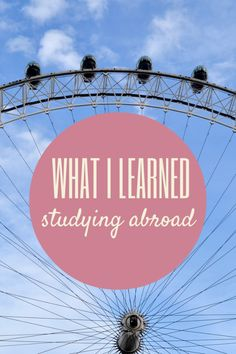 What I Learned Studying Abroad #travel #studyabroad #college