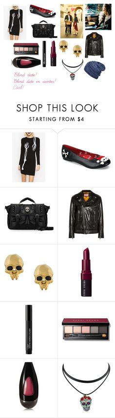 """""""For musicfreakofnature (friend) - musicfreakofnature's ideal wardrobe by me: Blind date!"""" by sarah-m-smith ❤ liked on Polyvore featuring WithChic, Funtasma, Etiquette, Gucci, Kasun, Bobbi Brown Cosmetics and Temptu"""