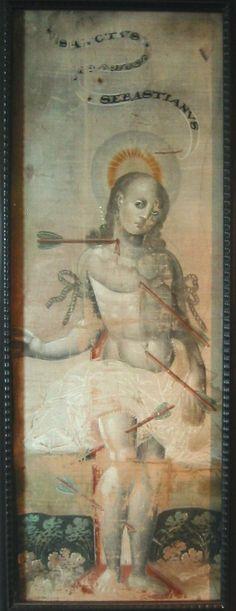 Saint Sebastian Tempera, Japan, 1590 - 1600 Musée Guimet des Arts Asiatiques (France)