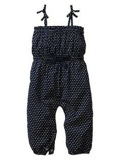 Stars & dots one-piece coverall for baby girl   Gap