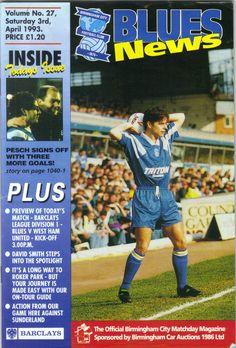 Birmingham City v West Ham Utd Football Programme Division 1 03/04/1993