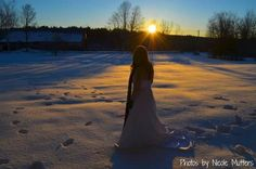 Sunrise Winter trash the dress photo by Nicole Mutters http://www.facebook.com/pages/Photos-by-Nicole-Mutters/210703892317779