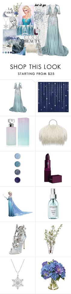 """Elsa"" by juststeene ❤ liked on Polyvore featuring Disney, Jenny Packham, C.R.A.F.T., Calvin Klein, Terre Mère, Lipstick Queen, RoomMates Decor, Giuseppe Zanotti, LSA International and Diane James"