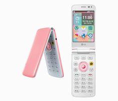 LG ice cream smart flip phone features a three-screen interface