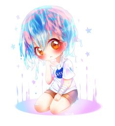 Earth-Chan by Seiini on DeviantArt Kawaii Art, Kawaii Anime Girl, Anime Girls, Earth Drawings, Pop Characters, Anime Version, Pokemon, Popular Anime, Cute Chibi
