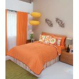 Bright Orange Bedspread picture