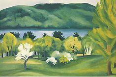 Framed Art Print: Lake George, Early Moonrise Spring, 1930 by Georgia O'Keeffe : Wisconsin, Santa Fe, New Mexico, Framed Art Prints, Poster Prints, Posters, Framed Wall, Wall Art, Georgia O'keefe Art