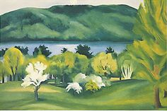 Lake George, Early Morning (or Early Moonrise) by Georgia O'Keeffe, 1930. Oil on canvas
