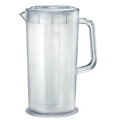 Plastic Ice-Tea and Juice Pitcher w/ Ice Tube, 66 Fluid Ounces by Pride Of India ** Click image for more details.