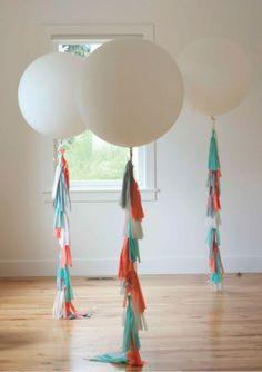 DIY decoratie voor je bruiloft: ballon franjes | ThePerfectWedding.nl
